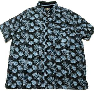 Nat Nast Mens XL Silk Blend Short Sleeve Shirt EUC